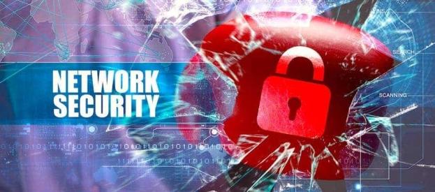 a padlock representing network security